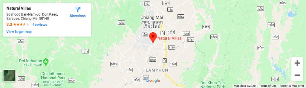 Chiang Mai Luxury Private Pool Villa | Google Maps Location Image