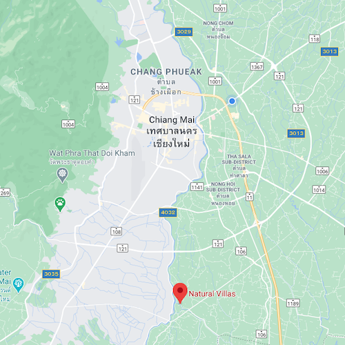 Chiang Mai Luxury Private Pool Villa | Google Maps Location Image | MOBILE Version