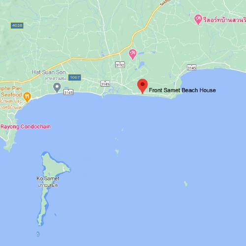 Front Samet Beach House | Google Maps Location Image | MOBILE Version