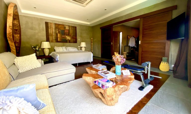 Chiang Mai Luxury Private Pool Villa | Upstairs Master Bedroom Photo