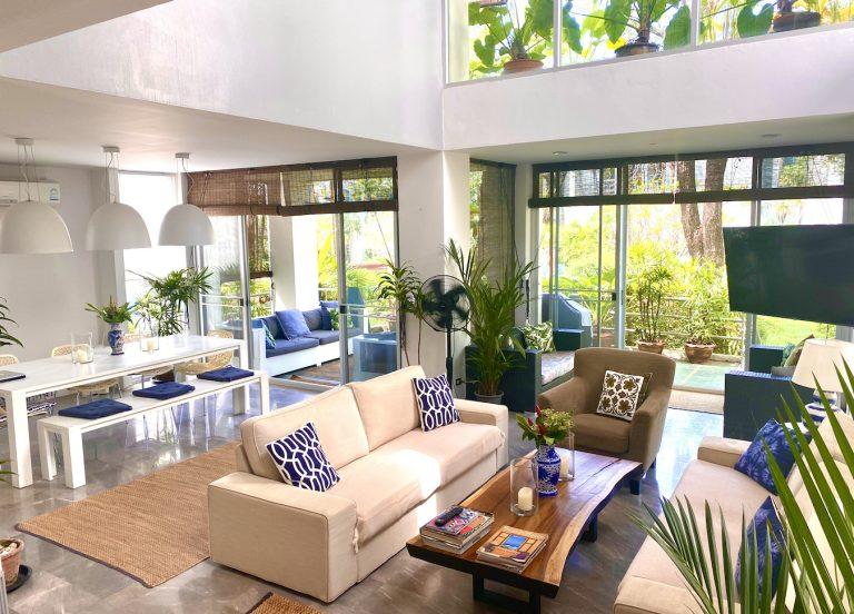 Front Samet Beach House | MAIN Slider | Living Room in the Villa | MOBILE